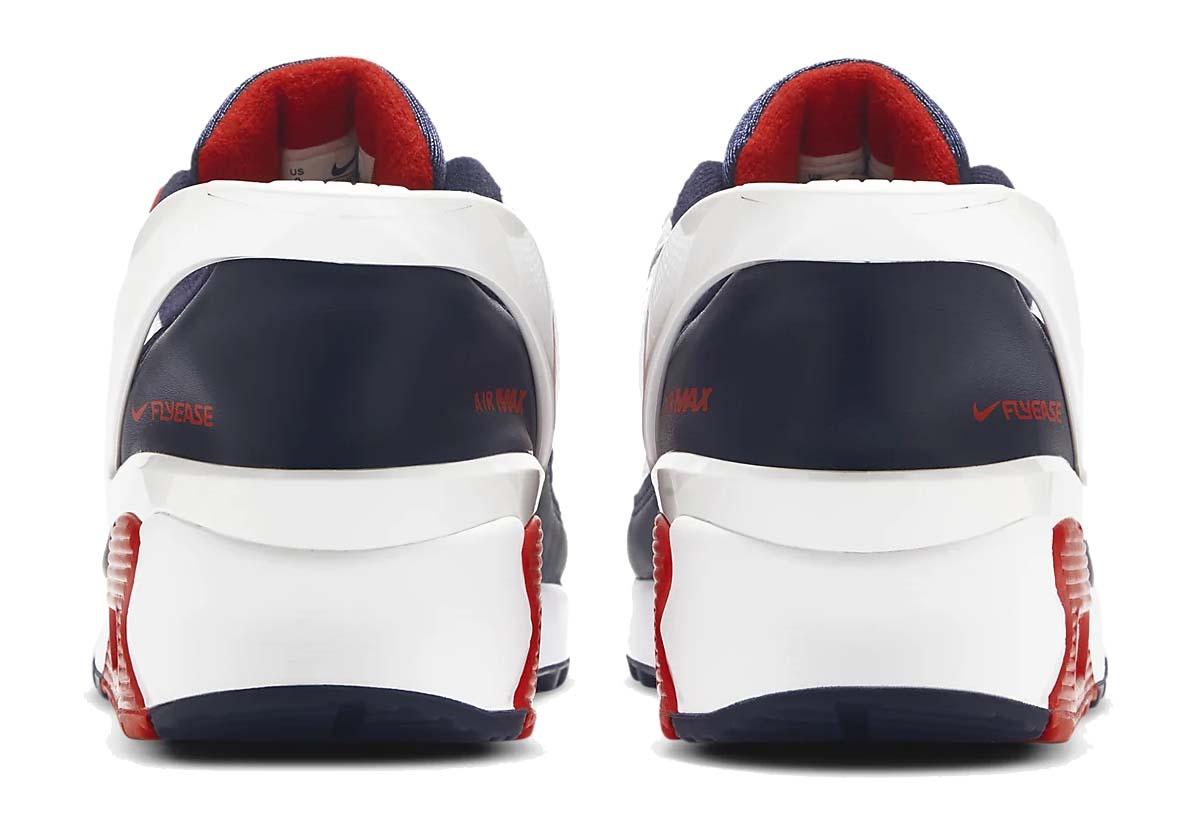 NIKE AIR MAX 90 FLYEASE WHITE / UNIVERSITY RED-OBSIDIAN CU0814-104 ナイキ エアマックス90 フライイーズ ホワイト/レッド/ネイビー