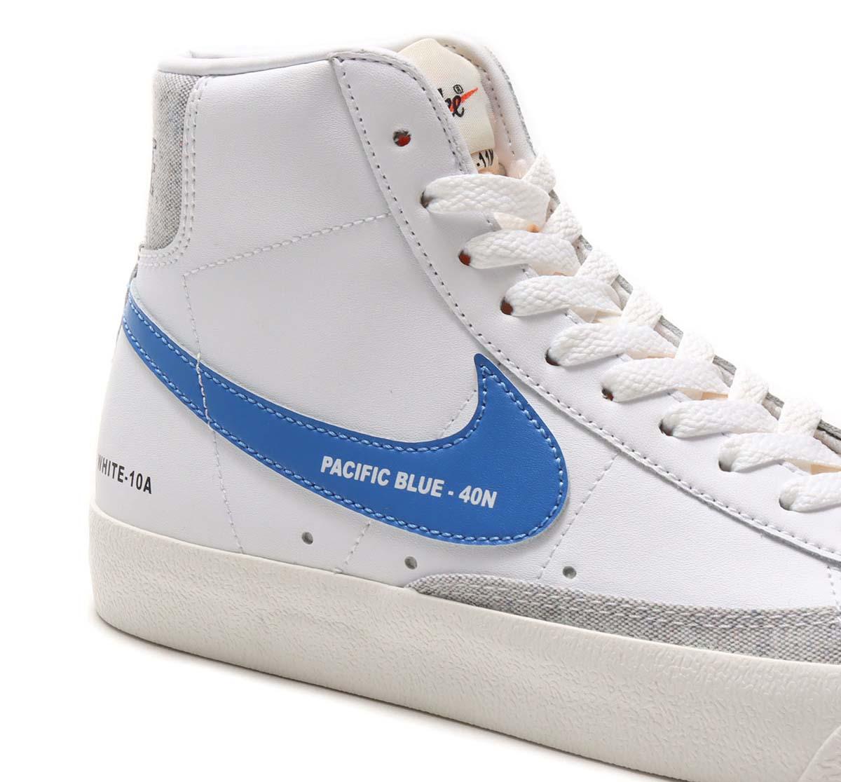 NIKE BLAZER MID 77 Swatch WHITE / PACIFIC BLUE-HABANERO RED-SAIL DA2142-146 ナイキ ブレーザー ミッド 77 ホワイト/ブルー/レッド/グリーン/ブラック