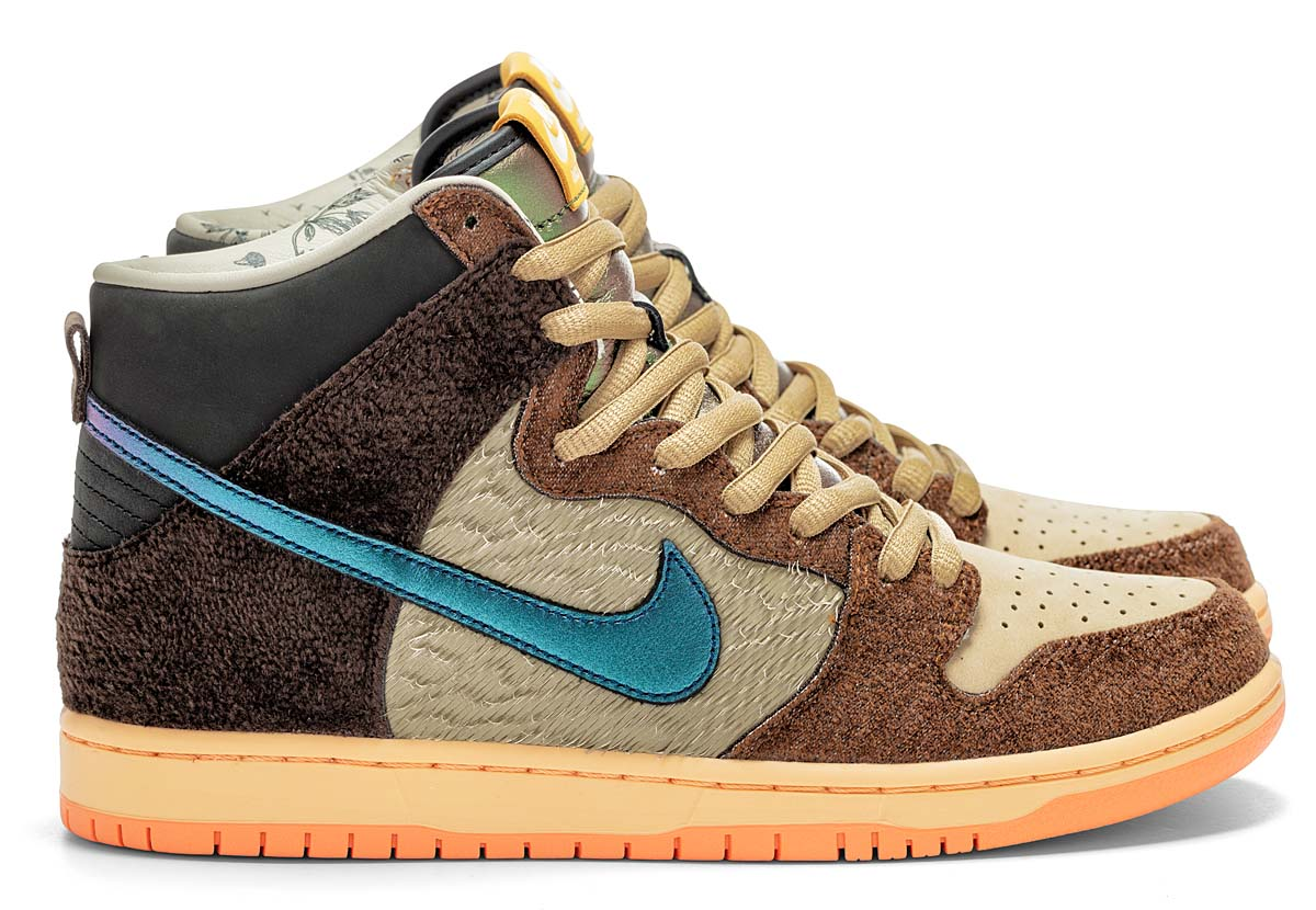 CONCEPTS x NIKE SB DUNK HIGH MALLARD RATTAN / PARACHUTE BEIGE-ORANGE CHALK-BAROQUE BROWN DC6887-200 コンセプト × ナイキ SB ダンク ハイ マガモ ブラウン/ブルー/グリーン