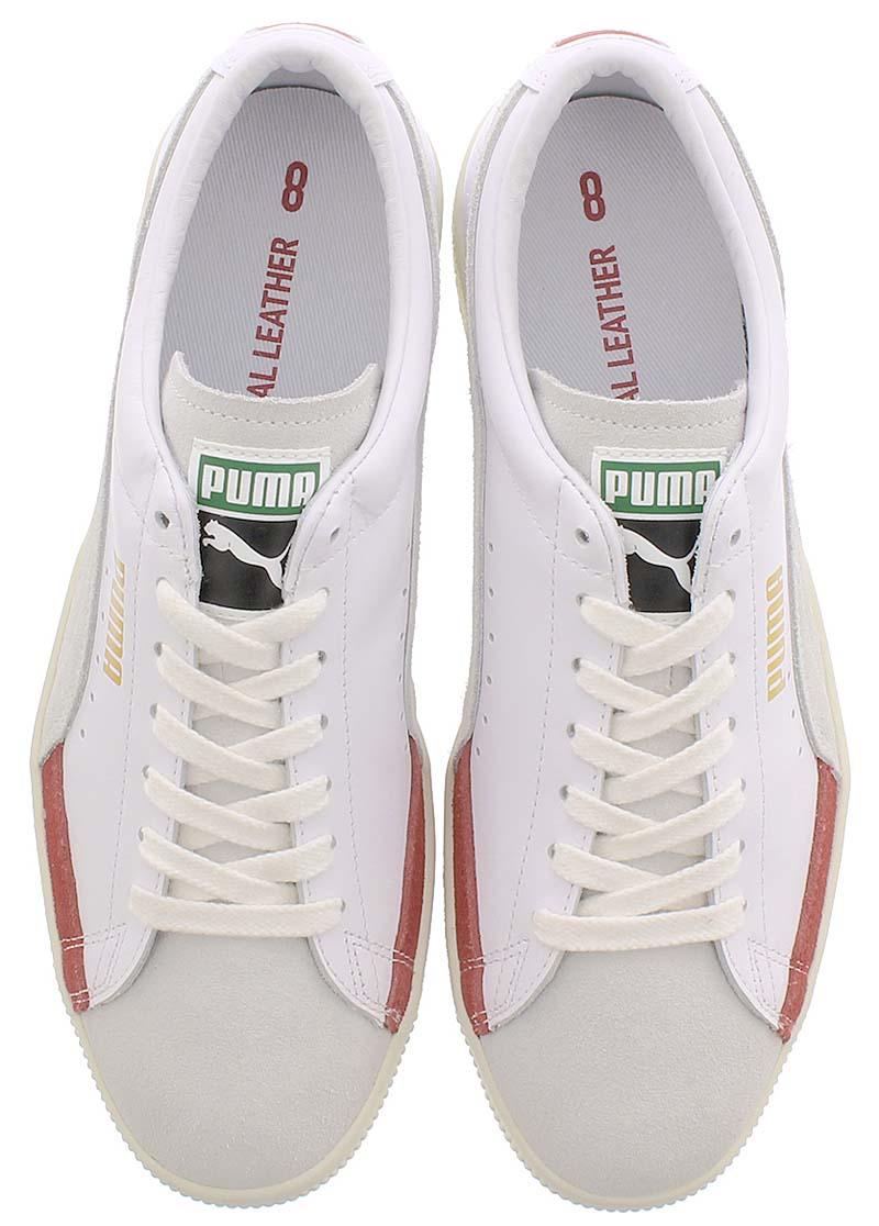 PUMA BASKET 90680 L  WHITE / WHISPER WHITE / HIGH RISK RED プーマ バスケット 90680 L ホワイト/グレー/レッド 372073-04