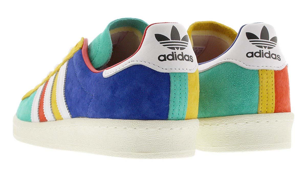 adidas CAMPUS 80s TEAM ROYAL BLUE / FOOTWEAR WHITE / CORE BLACK FW5167 アディダス キャンパス 80s ブルー/ホワイト/ブラック/マルチカラー
