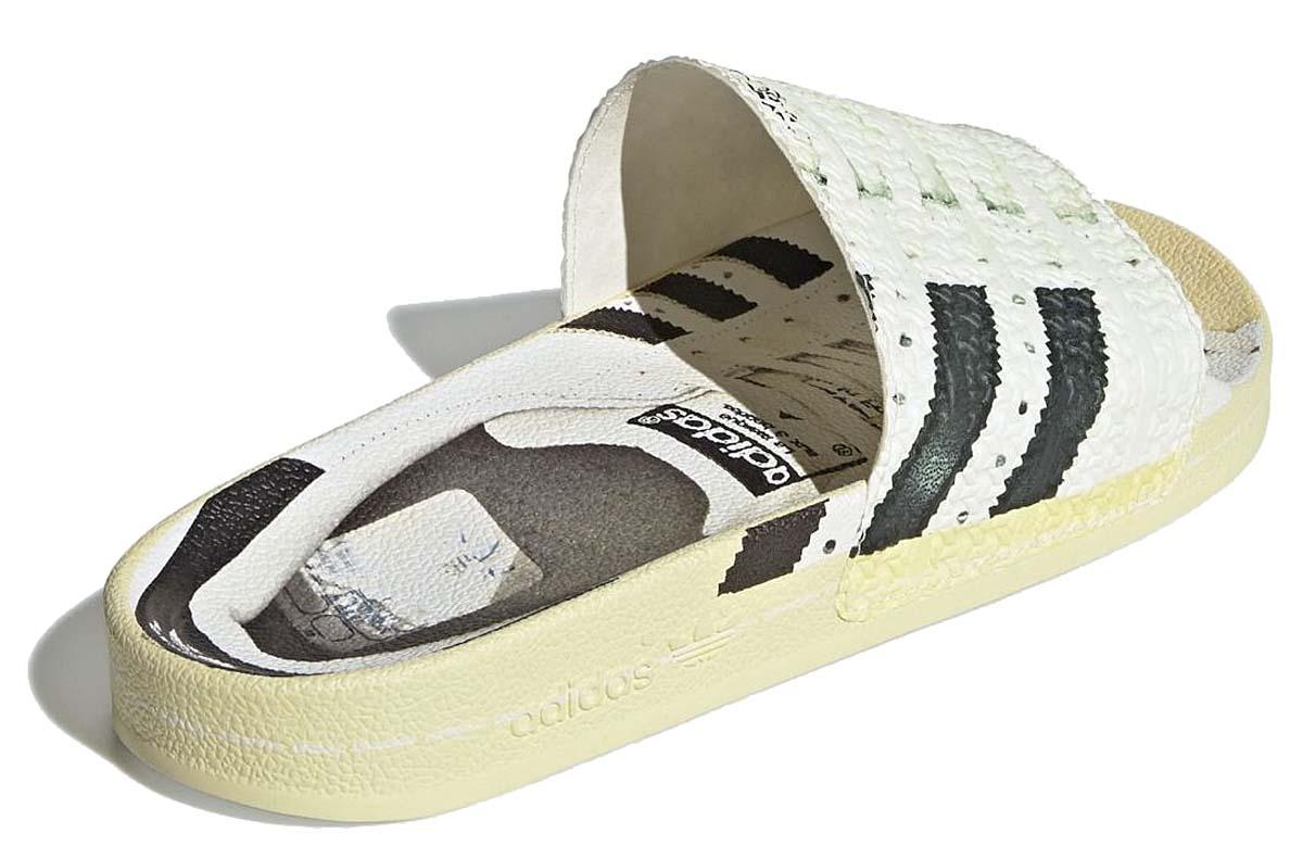 adidas ADILETTE / SUPERLETTE FOOTWEAR WHITE / CORE BLACK / OFF WHITE FW6093 アディダス アディレッタ / スーパーレッタ ホワイト/ブラック
