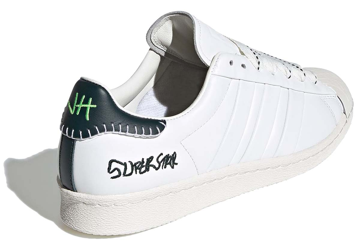 JONAH HILL x adidas Originals SUPERSTAR CORE WHITE / GREEN NIGHT / OFF WHITE FW7577 ジョナ・ヒル × アディダス オリジナルス スーパースター  ホワイト/グリーン