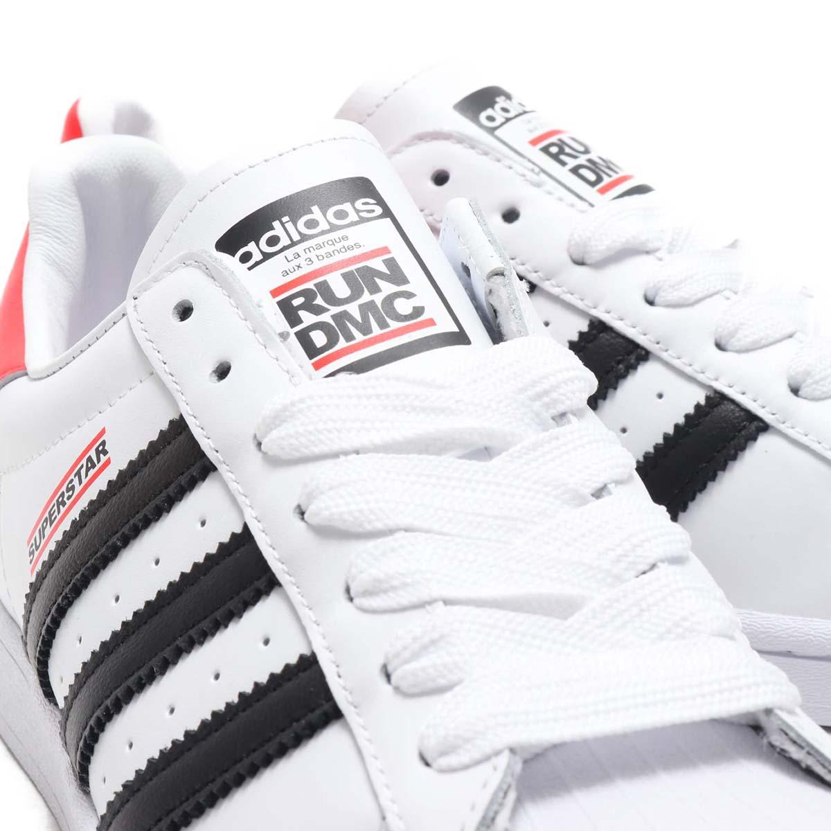 adidas SUPERSTAR 50 RUN-DMC FOOTWEAR WHITE / CORE BLACK / HIGHREZ RED FX7616 アディダス スーパースター 50 RUN-DMC ホワイト/ブラック/レッド