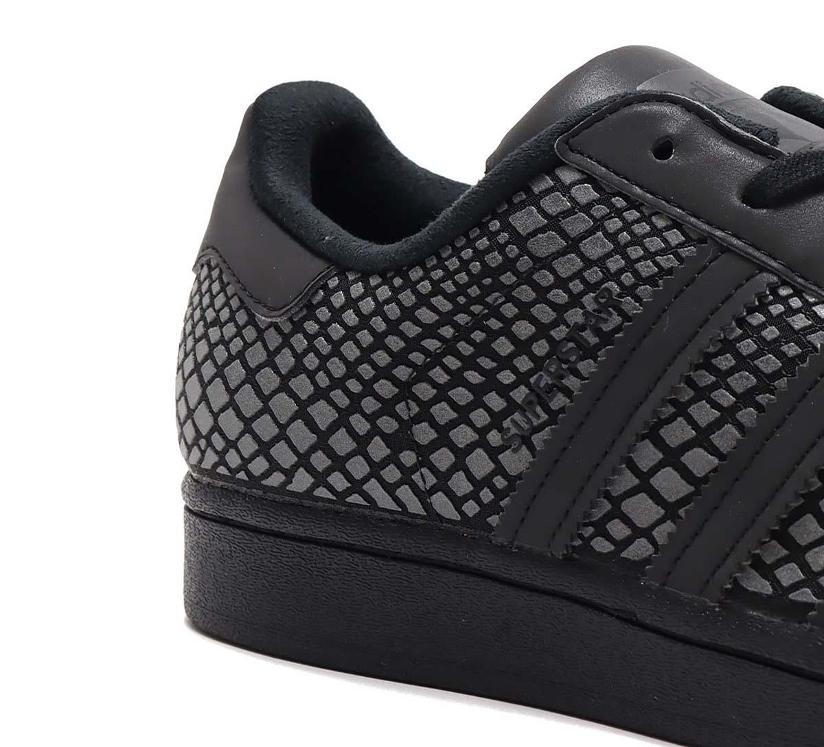 atmos x adidas SUPERSTAR R-SNK CORE BLACK / CORE BLACK / GRAY SIX FY6014 アトモス × アディダス スーパースター R-SNK ブラック/グレー/リフレクター