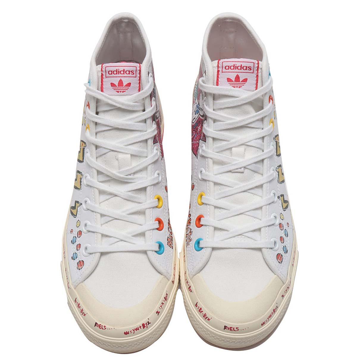 adidas NIZZA HI RF Kasing Lung x Mickey Mouse x adidas Mickey Twist FOOTWEAR WHITE / FOOTWEAR WHITE / WONDER GLOW GZ8838 アディダス ニッザ ハイ RF カシン・ローン / ミッキーマウス ホワイト/マルチカラー
