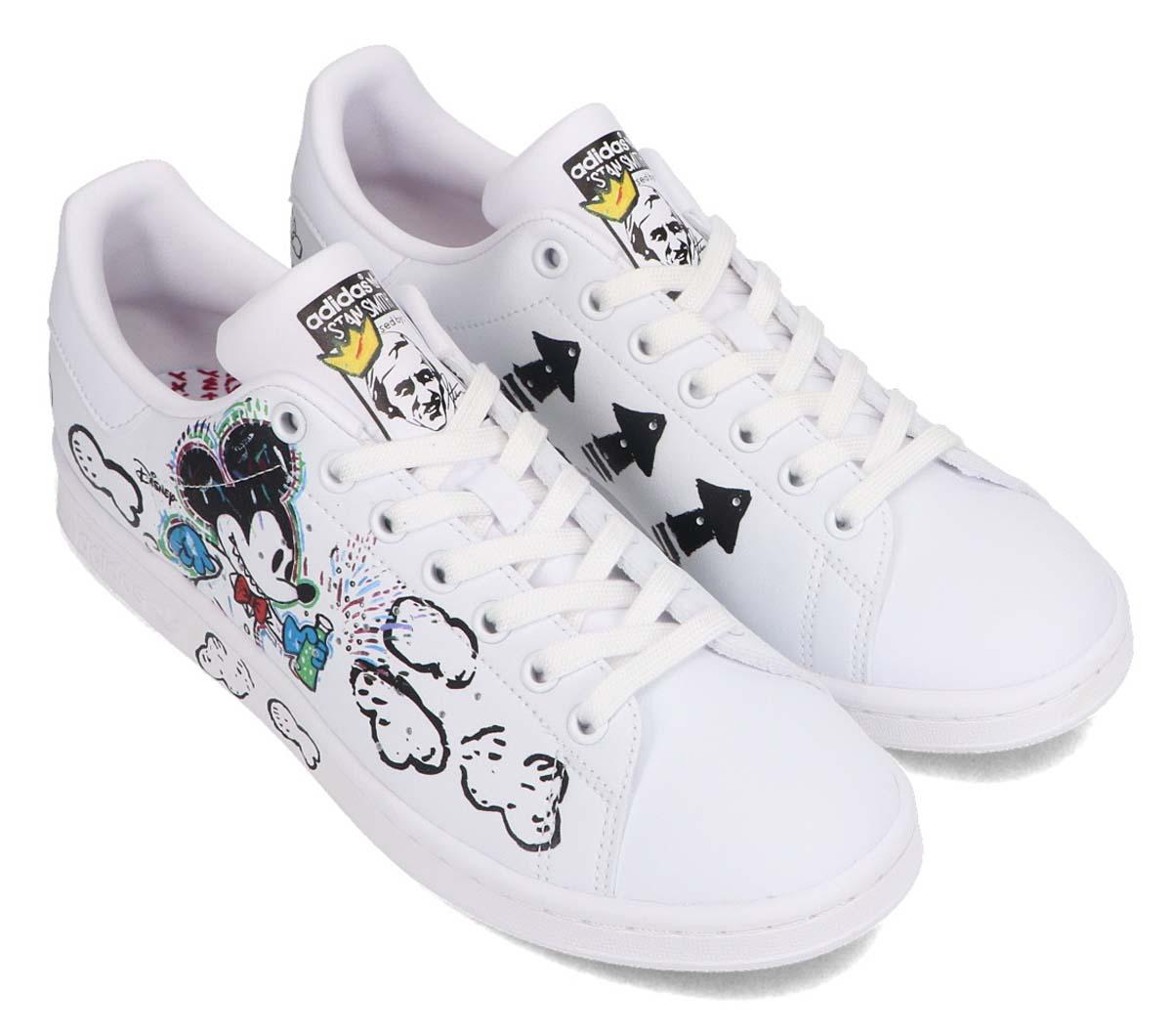adidas STAN SMITH Kasing Lung x Mickey Mouse x adidas Mickey Twist FOOTWEAR WHITE / FOOTWEAR WHITE / CORE BLACK GZ8841 アディダス スタンスミス  ホワイト/マルチカラー