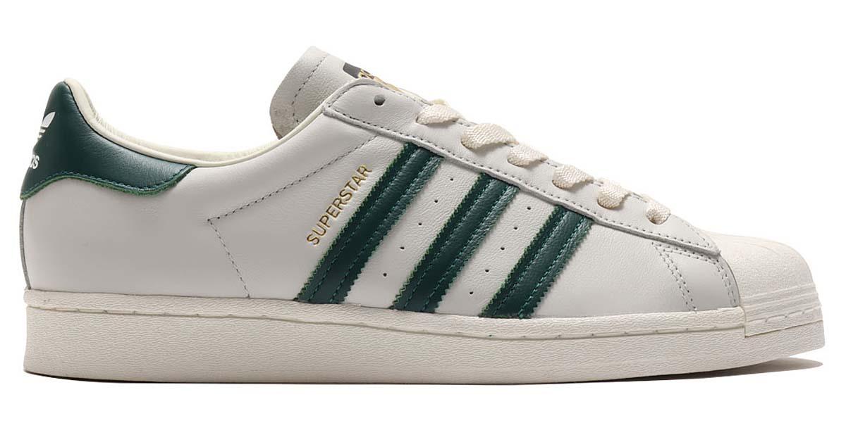 adidas SUPERSTAR OFF WHITE / COLLEGE GREEN / OFF WHITE H68186 アディダス スーパースター オフホワイト/グリーン