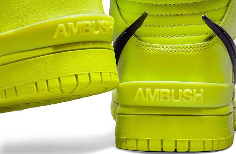 AMBUSH x NIKE DUNK HIGH FLASH LIME ATOMIC GREEN / BLACK-FLASH LIME CU7544-300 アンブッシュ × ナイキ ダンク ハイ フラッシュライム アトミックグリーン/ブラック/フラッシュライム