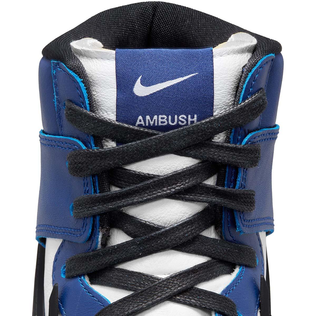 AMBUSH × NIKE DUNK HIGH DEEP ROYAL DEEP ROYAL BLUE / WHITE-PALE IVORY-BLACK CU7544-400 アンブッシュ × ナイキ ダンク ハイ ディープ・ロイヤル ブルー/ホワイト