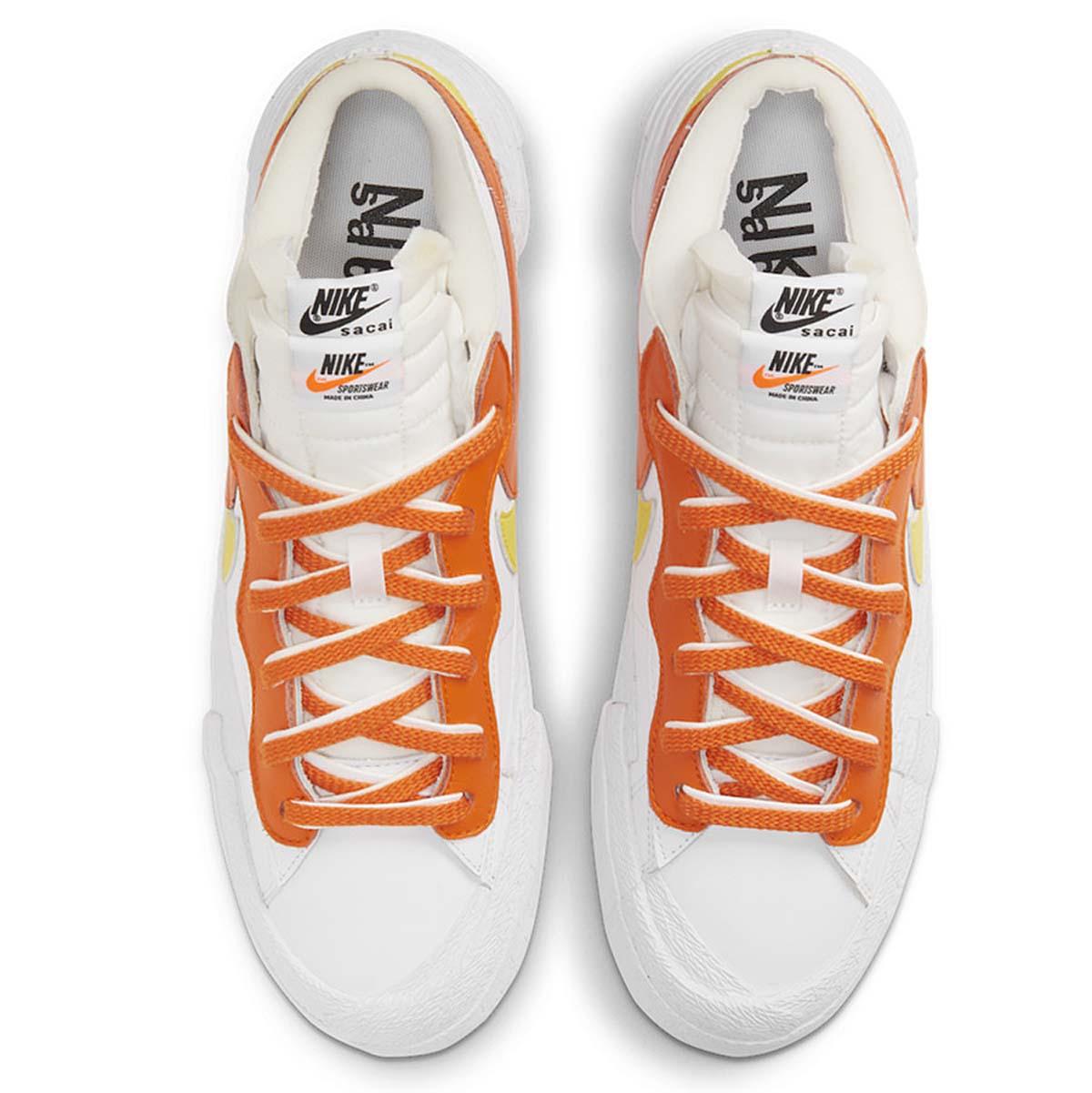 sacai x NIKE BLAZER LOW WHITE / MAGMA ORANGE-WHITE DD1877-100 サカイ × ナイキ ブレザー ロー ホワイト/マグマオレンジ