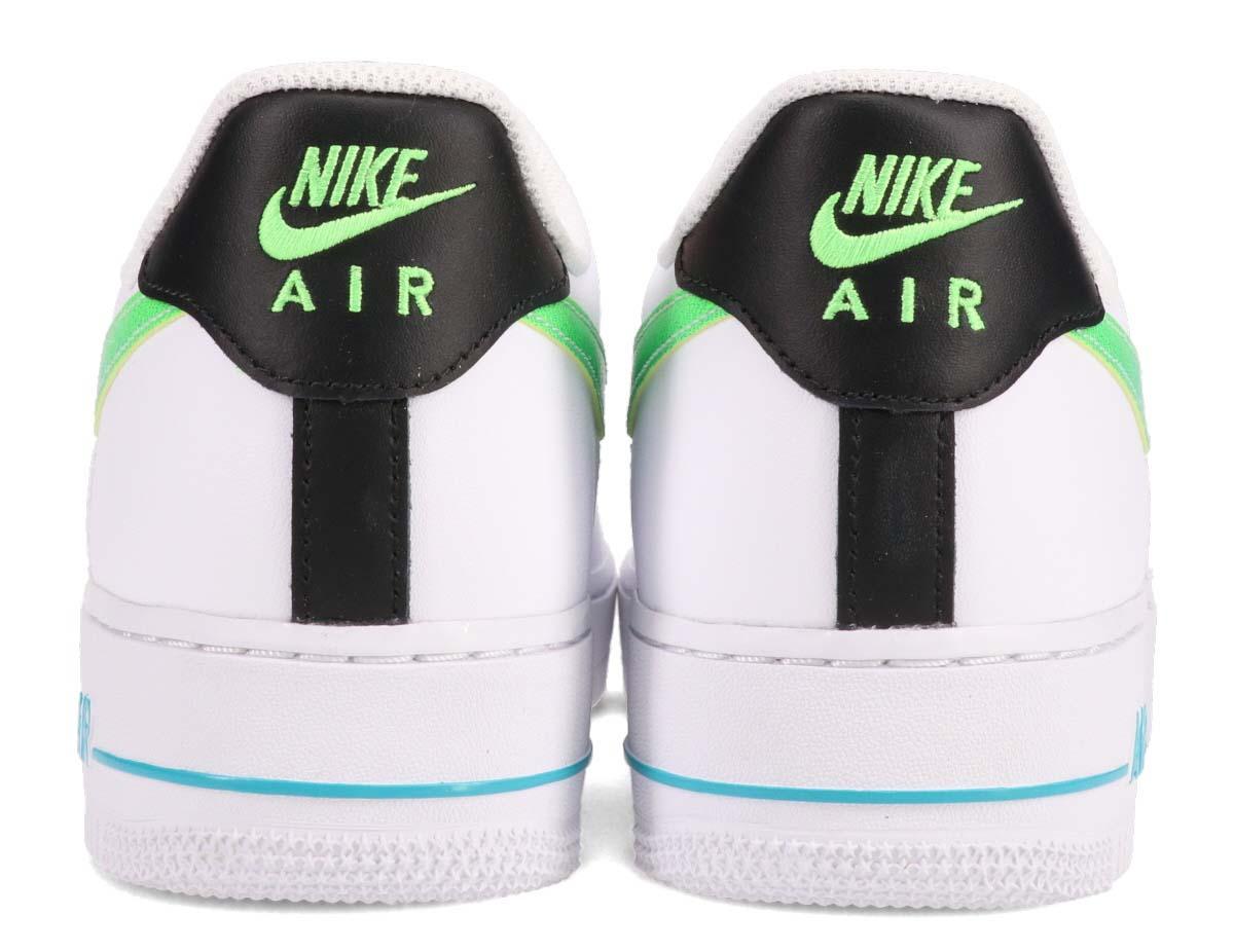 NIKE AIR FORCE 1 07 LV8 WHITE / GREEN STRIKE-AQUAMARINE-BLACK DJ5148-100 ナイキ エア フォース 1 07 LV8 ホワイト/グリーン/ブラック