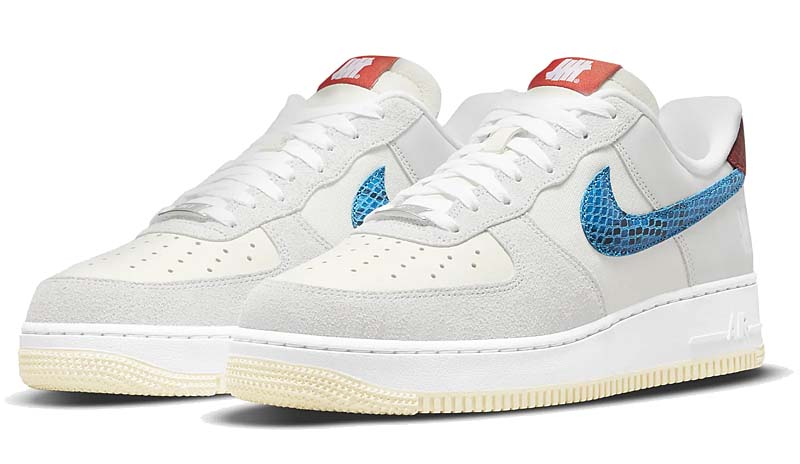 UNDEFEATED × NIKE AIR FORCE 1 LOW DUNK vs AF1  GREY FOG / IMPERIAL BLUE DM8461-001 アンディフィーテッド × ナイキ エアフォース1 ロー 「ダンク vs AF1」 グレー/ブルー/レッド