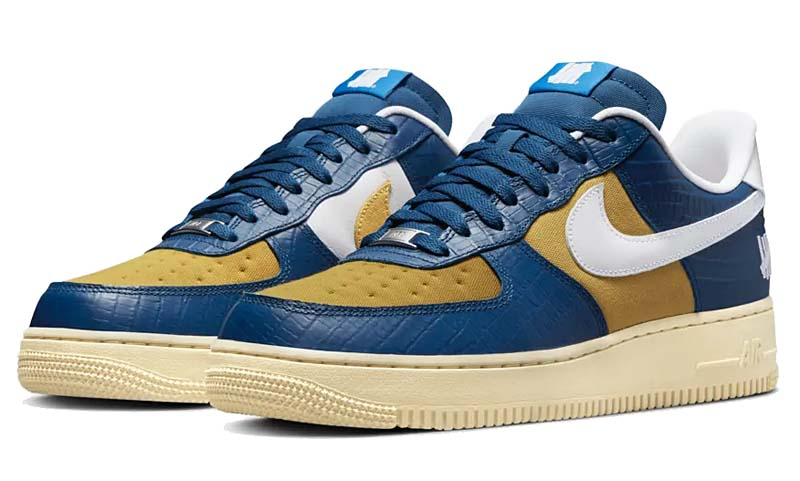 UNDEFEATED x NIKE AIR FORCE 1 LOW SP 5 On It COURTBLUE / WHITE DM8462-400 アンディフィーテッド ✕ ナイキ エアフォース1 ロー SP ブルー/イエロー/ホワイト