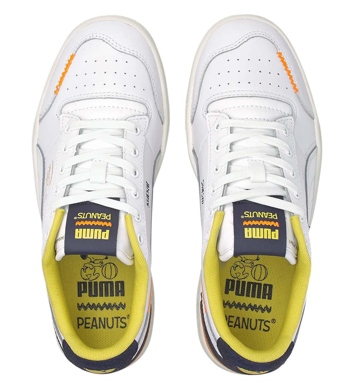 PUMA RALPH SAMPSON PEANUTS SNOOPY Puma White-Peacoat プーマ ラルフサンプソン ピーナツ スヌーピー ホワイト/イエロー 375516-01