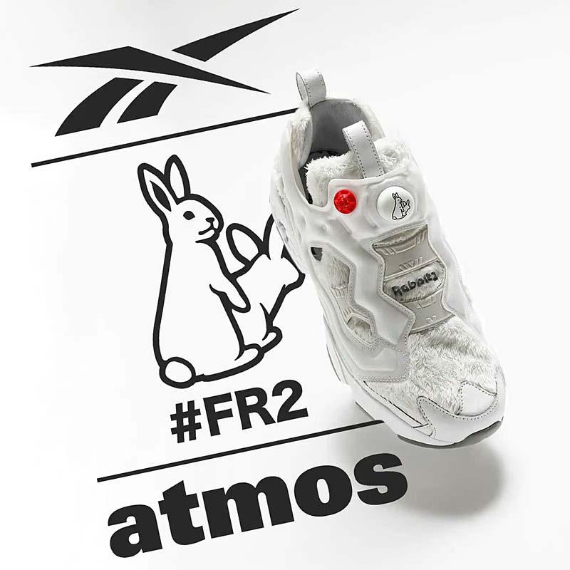 atmos x #FR2 x Reebok INSTAPUMP FURY OG PURE GRAY / PURE GRAY / FOOTWEAR WHITE GZ3228 アトモス ✕ #FR2 ✕ リーボック インスタポンプ フューリー OG グレー/ホワイト