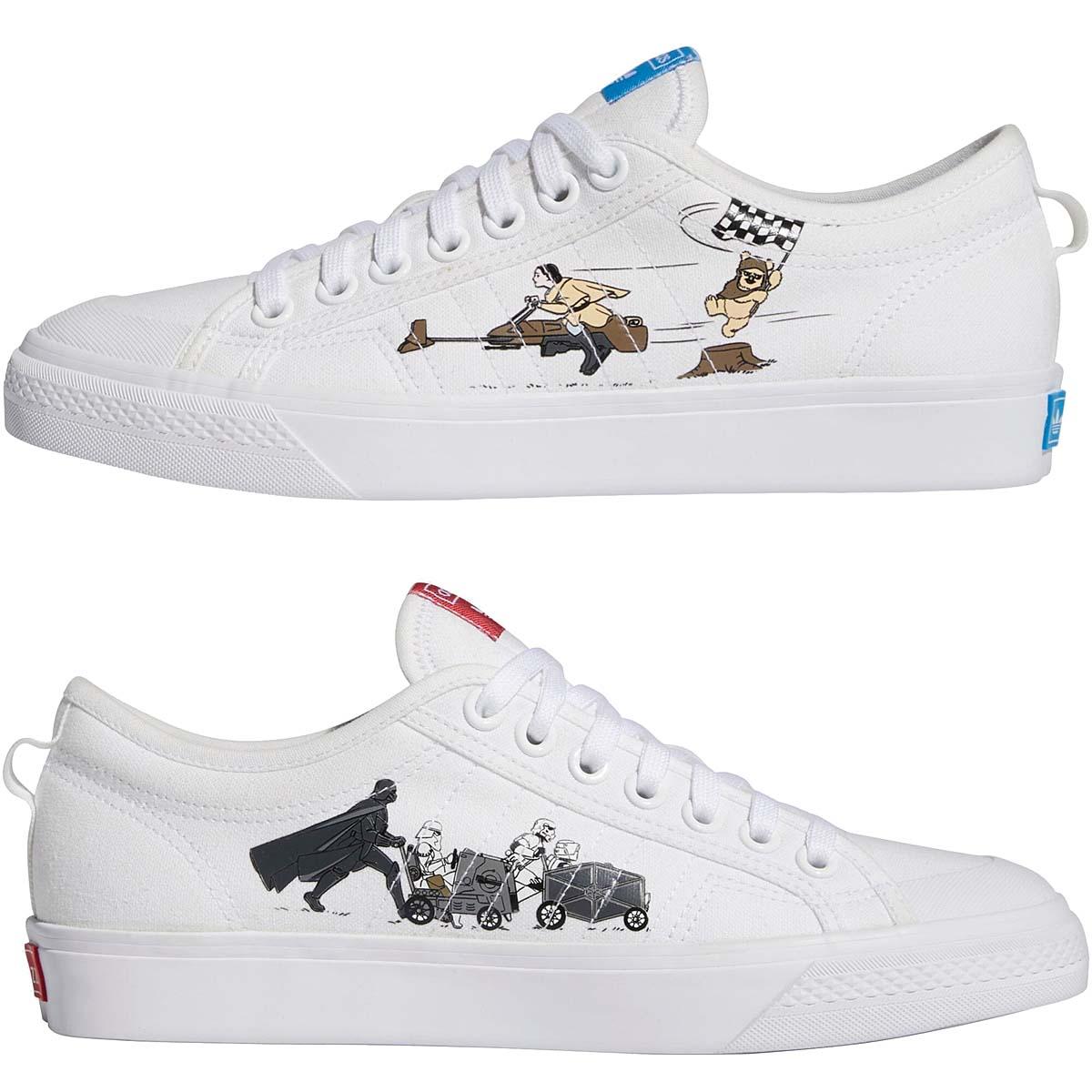 STAR WARS x adidas NIZZA CLOUD WHITE / CLOUD WHITE / BRIGHT BLUE FX8351 スター・ウォーズ × アディダス ニッツァ ホワイト