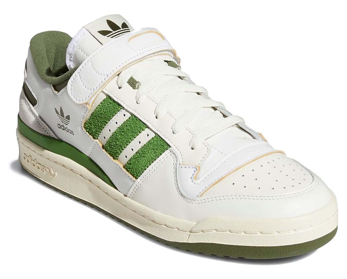 adidas FORUM 84 LOW FTWR WHITE / CREW GREEN / WILD PINE FY8683 アディダス フォーラム 84 ロー ホワイト/グリーン