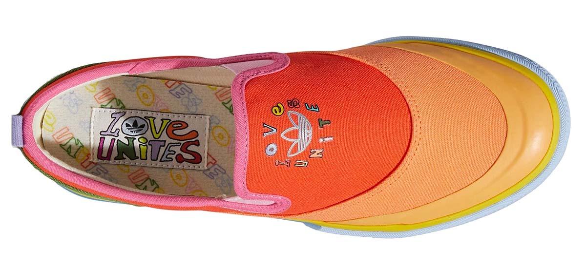 adidas Originals NIZZA SLIP-ON PRIDE COLLECTION 2021 SEMI SOLAR RED / YELLOW / HAZY ORANGE GW2421 アディダス オリジナルス ニッツァ スリッポン プライド・コレクション2021 レッド/オレンジ/イエロー/グリーン