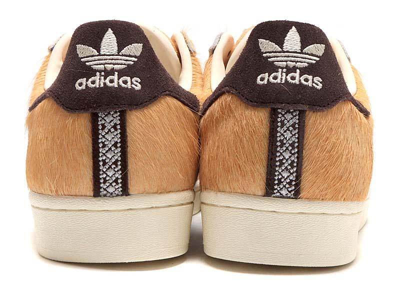 atmos x adidas Originals SUPERSTAR DOG HACHIKO FOCUS ORANGE / DARK BROWN / OFF WHITE GW3471 アトモス ✕ アディダス スーパースター 忠犬ハチ公 ブラウン/オフホワイト