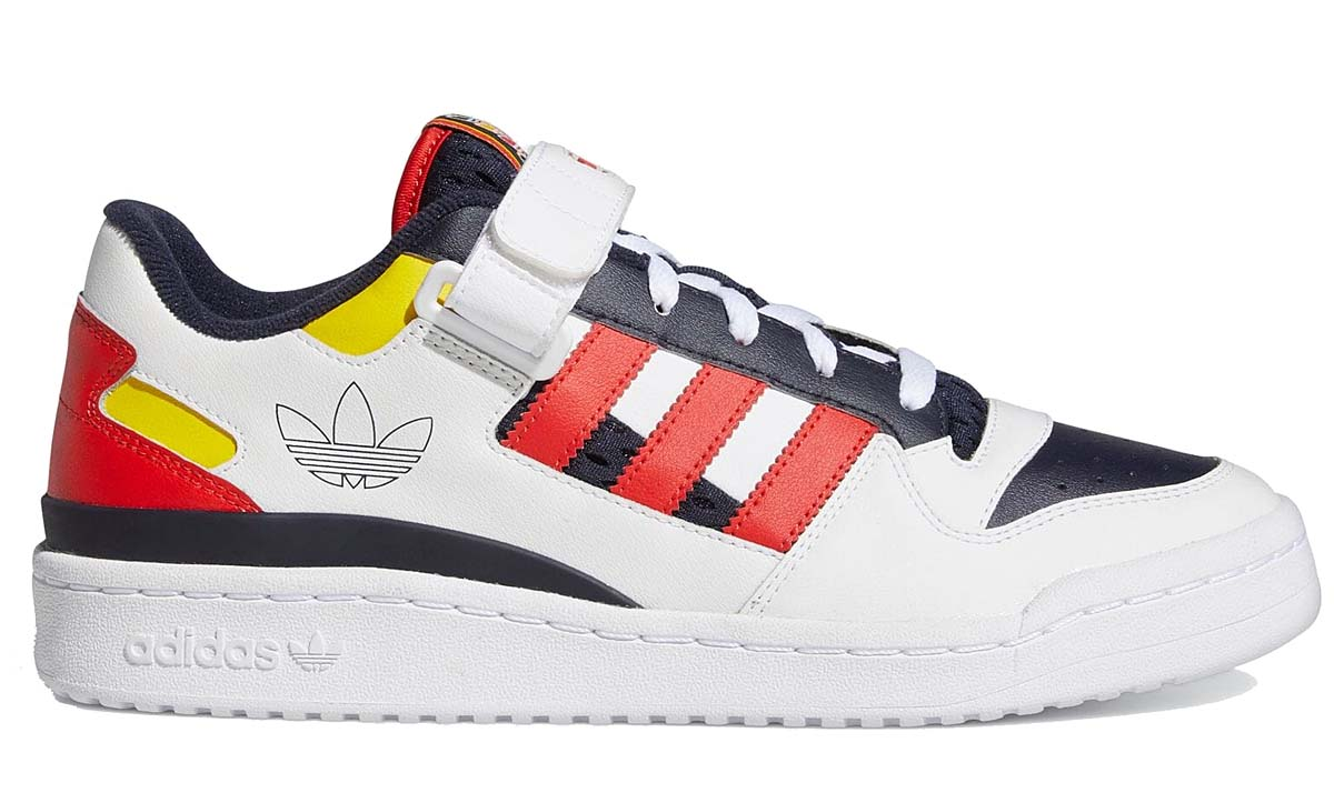 adidas Originals FORUM LOW WHITE / LEGEND INK-RED GZ9112 アディダス オリジナルス フォーラム ロー ホワイト/レッド/ネイビー/イエロー