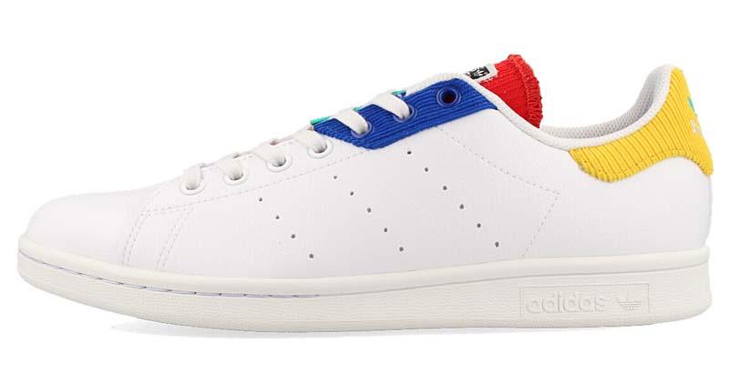 adidas STAN SMITH FTWR WHITE / CRYSTAL WHITE / TEAM ROYAL BLUE H00329 アディダス スタンスミス ホワイト/ブルー/イエロー/レッド