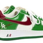 NIKE AIR FORCE 1 Cinco De Mayo CARTOON [WHITE / CLASSIC GREEN-VARSITY RED] (306146-131)