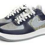NIKE AIR FORCE1 LA 03 Mr.CARTOON [MIDNIGHT NAVY / SILVER-WHITE] (312234-401)