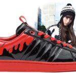 adidas Originals x きゃりーぱみゅぱみゅ SS ENML DRIP [BLACK/BLACK/LIGHT SCARLETT] (G28357)