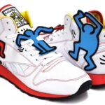 Reebok CL LTHR MID LUX  Keith Haring [WHITE/BLK/TECHY RED/MULTI] (V44585)