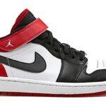 NIKE AIR JORDAN 1 STRAP LOW [WHITE/BLACK-GYM RED] (574420-101)