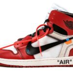 "NIKE x Virgil Abloh (OFF-WHITE) AIR JORDAN 1 RETRO HIGH OG ""The Ten"" [WHITE / BLACK / VARSITY RED] (aa3834-101)"