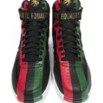 NIKE AIR FORCE 1 HIGH BHM QS [BLACK / UNIVERSITY RED / PINE GREEN] (836227-002)