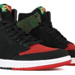 NIKE AIR JORDAN 1 RE HI FLYKNIT BHM [BLACK / BLACK-PINE GREEN-UNIVERSITY RED] (aa2426-026)