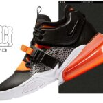 NIKE AIR FORCE 270 [BLACK / HYPER CRIMSON-WOLF GREY-WHITE] (ah6772-004)