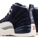 NIKE AIR JORDAN 12 RETRO PRM [COLLEGE NAVY / UNIVERSITY RED-SAIL] (BV8016-445)