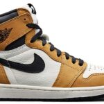 NIKE AIR JORDAN 1 HI OG Rookie Of the Year [GOLDEN HARVEST / BLACK-SAIL] (555088-700)
