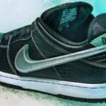 NIKE DUNK LOW PRO SB DIAMOND SUPPLY CO TIFFANY BLACK [BLACK / TROPICAL-TWIST / CHROME] (BV1310-001)