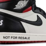 "NIKE AIR JORDAN 1 RETRO HIGH OG ""NOT FOR RESALE"" [SAIL / BLACK / VARSITY RED] (861428-106)"