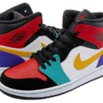 "NIKE AIR JORDAN 1 MID ""WHAT THE NBA"" [WHITE / RED / MULTI] (554724-125)"