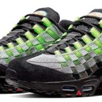 NIKE AIR MAX 95 WOVEN [BLACK / PHOTO BLUE-VOLT NOIR / VOLT / BLUE PHOTO] (AQ0764-001)