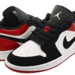 NIKE AIR JORDAN 1 LOW  [WHITE / BLACK / GYM RED] (553558-116)