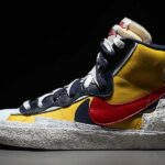 NIKE x sacai BLAZER MID [VARSITY MAIZE / MIDNIGHT NAVY / WHITE / VARSITY RED] (BV0072-700)