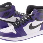 NIKE AIR JORDAN 1 RETRO HIGH OG [COURT PURPLE/BLACK/WHITE] (555088-500)