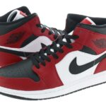 NIKE AIR JORDAN 1 MID CHICAGO BLACK TOE [BLACK / GYM RED-WHITE] (554724-069)
