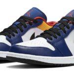 NIKE AIR JORDAN 1 LOW [WHITE / TRACK RED-DEEP ROYAL BLUE] (553558-123)