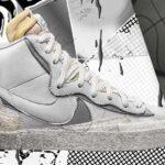 サカイ × ナイキ ブレザー ミッド 「ホワイト/ウルフグレイ」 (BV0072-100)