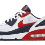 NIKE AIR MAX 90 FLYEASE [WHITE / UNIVERSITY RED-OBSIDIAN] (CU0814-104)